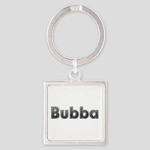 Bubba Metal Square Keychain