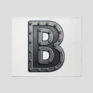 B Metal Throw Blanket