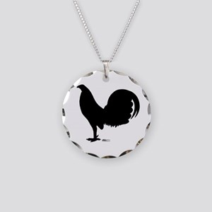 Gamecock Rooster Silhouette Necklace Circle Charm
