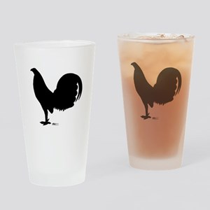 Gamecock Rooster Silhouette Drinking Glass