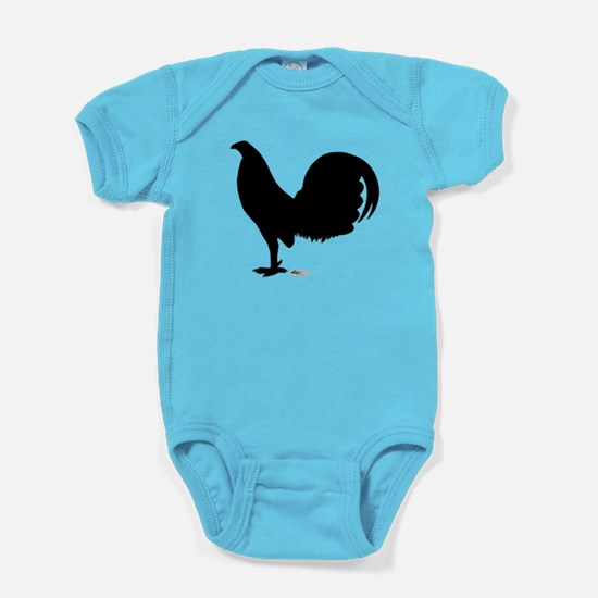Gamecock Rooster Silhouette Baby Bodysuit