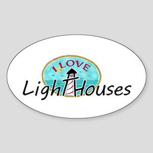 I Love Lighthouses Sticker