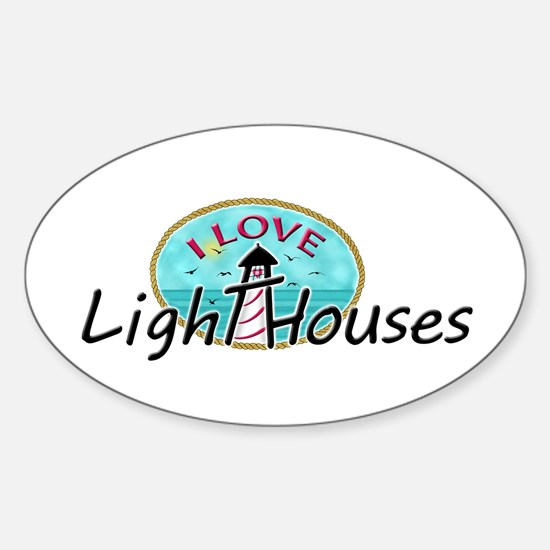 I Love Lighthouses Decal