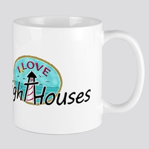 I Love Lighthouses Mugs