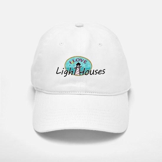 I Love Lighthouses Baseball Baseball Baseball Cap