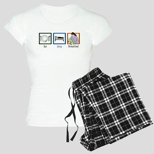 Eat Sleep Breastfeed Women's Light Pajamas