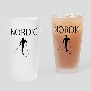 NORDIC SKI Drinking Glass