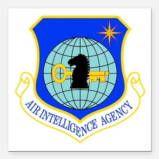 """Air Intelligence Agency Square Car Magnet 3"""" x 3"""""""