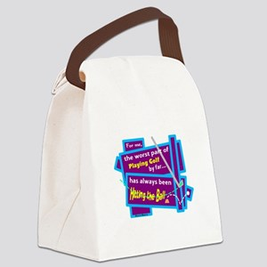 Hitting The Ball/Dave Barry Canvas Lunch Bag