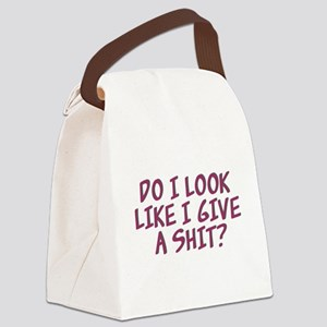 Do I Look Like I Give A Shit? Canvas Lunch Bag