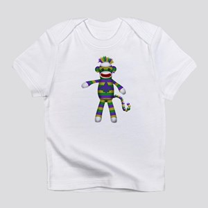 Mardi Gras Sock Monkey Infant T-Shirt