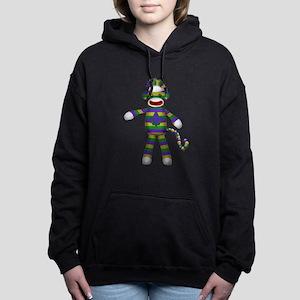 Mardi Gras Sock Monkey Hooded Sweatshirt