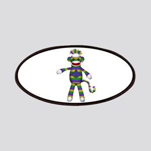 Mardi Gras Sock Monkey Patches