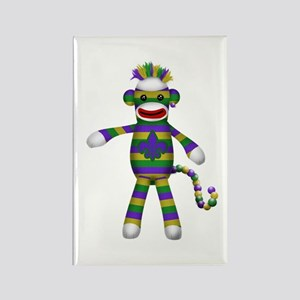 Mardi Gras Sock Monkey Magnets