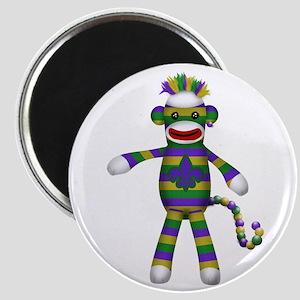 Mardi Gras Sock Monkey Magnets
