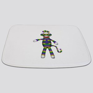 Mardi Gras Sock Monkey Bathmat