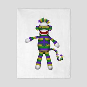 Mardi Gras Sock Monkey Twin Duvet
