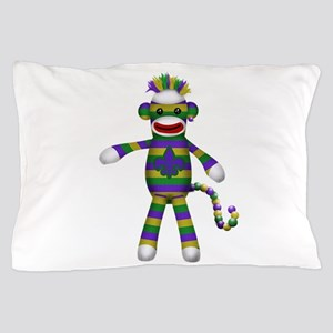Mardi Gras Sock Monkey Pillow Case