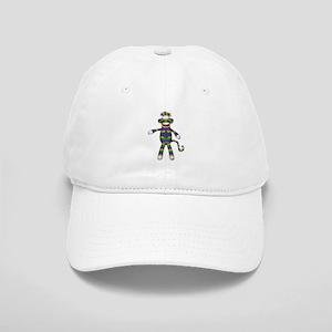 Mardi Gras Sock Monkey Baseball Cap