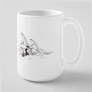 """""""Happy Feet"""" Leonberger Dog Large Mug"""