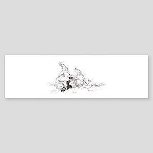 """""""Happy Feet"""" Leonberger Dog Sticker (Bumper)"""