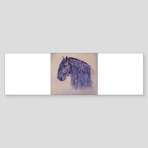 Friesian Horse Sticker (Bumper)
