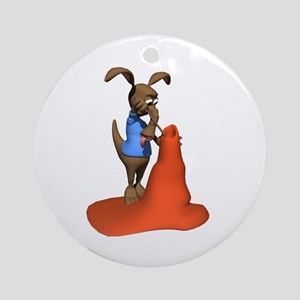 Anteater Hunting Ant Hill Ornament (Round)