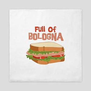 Full Of Bologna Queen Duvet