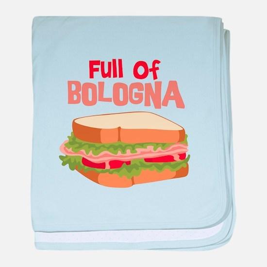 Full Of Bologna baby blanket