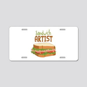 Sandwich Artist Aluminum License Plate