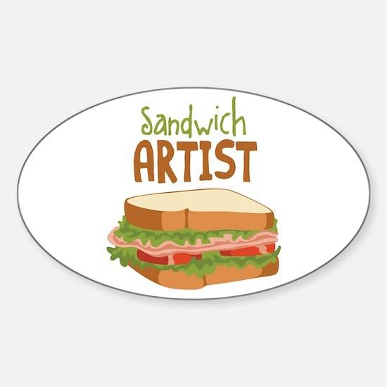 Sandwich Artist Decal