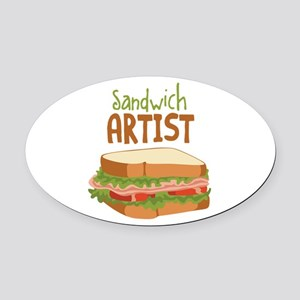 Sandwich Artist Oval Car Magnet