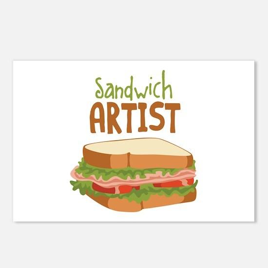 Sandwich Artist Postcards (Package of 8)