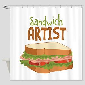 Sandwich Artist Shower Curtain