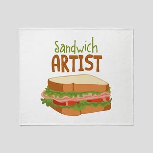 Sandwich Artist Throw Blanket