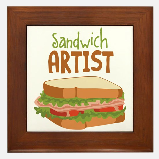 Sandwich Artist Framed Tile