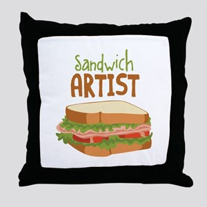 Sandwich Artist Throw Pillow