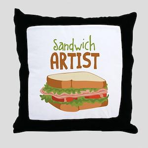Sandwich Artist Throw Pillow