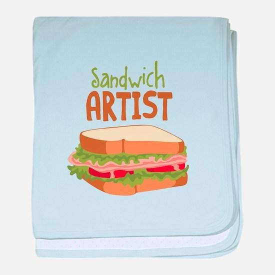 Sandwich Artist baby blanket