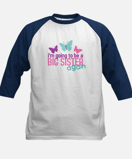 butterfly big sister to be Kids Baseball Jersey