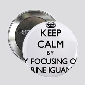 "Keep calm by focusing on Marine Iguanas 2.25"" Butt"