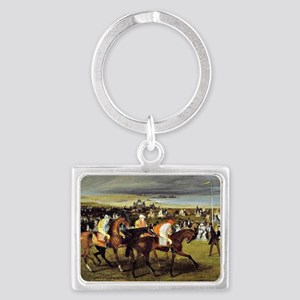 Degas - At the Races, The Start Landscape Keychain