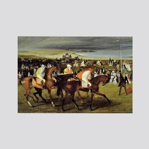 Degas - At the Races, The Start Rectangle Magnet