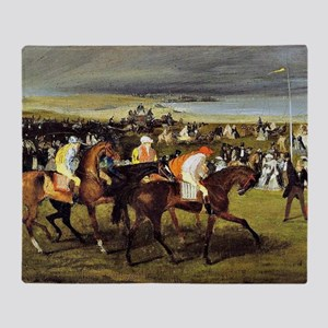 Degas - At the Races, The Start Throw Blanket