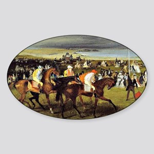 Degas - At the Races, The Start Sticker (Oval)