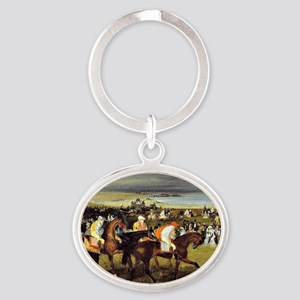 Degas - At the Races, The Start Oval Keychain