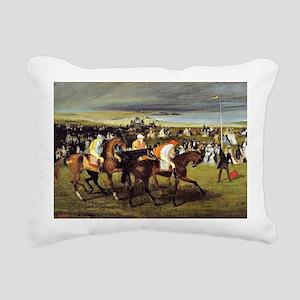 Degas - At the Races, Th Rectangular Canvas Pillow