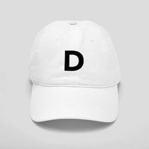 Letter D Black Baseball Cap