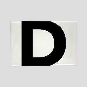 Letter D Black Magnets