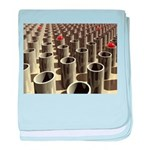 Stockyard of Cylinders baby blanket